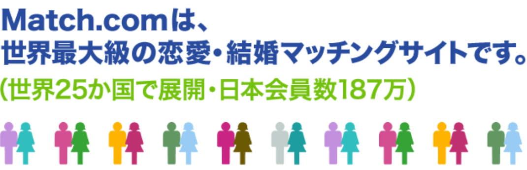ネット恋活サイトマッチドットコムの公式ページ