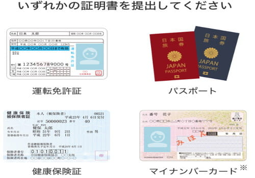 年齢確認できる身分証明書